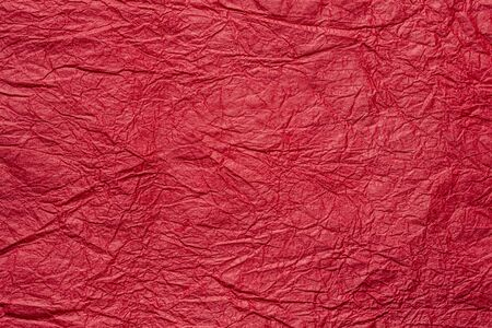 japanese abstract paper texture.red. close up.