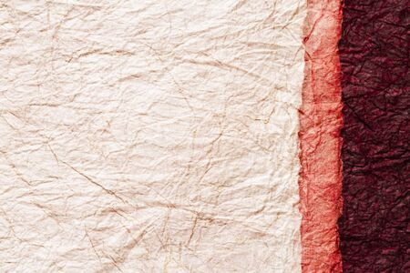 japanese abstract paper texture.3 colors of beige and pink and red brown. close up. 写真素材