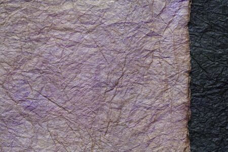 japanese abstract paper texture.2 colors of dark purple and black. close up. 写真素材