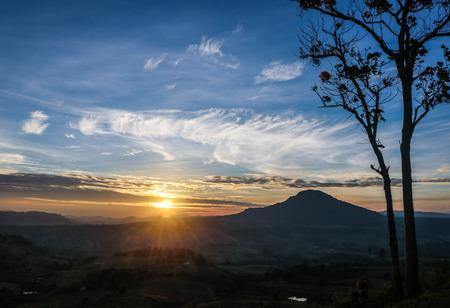 sunrise mountain Stock Photo