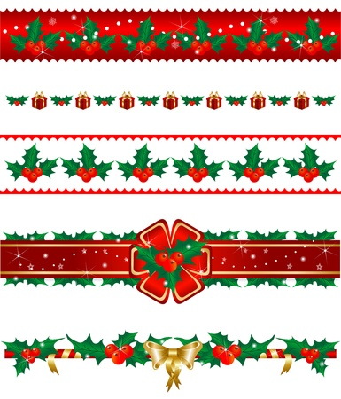 Set of Christmas borders Stock Photo - 11474113