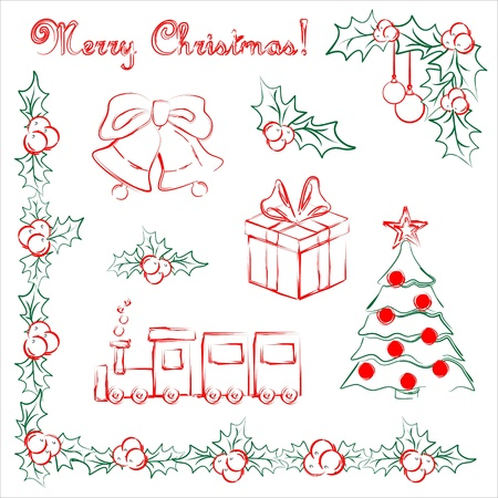 Set of Christmas vector objects