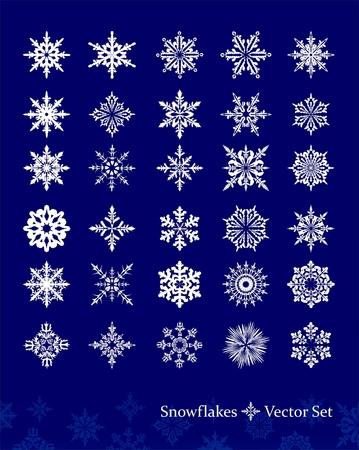 Set of vetor snowflakes