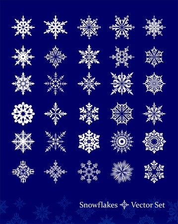 Set of vetor snowflakes Stock Vector - 11474119