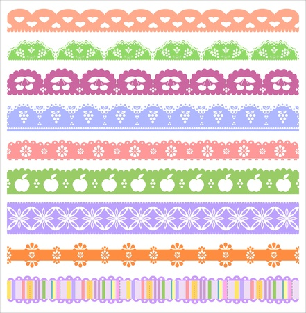 scalloped: Scalloped Scrapbooking Borders Set