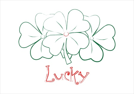 Vector Lucky Shamrock Sketch Vector