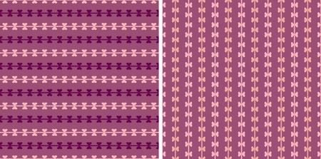 Seamless valentine pattern with hearts Illustration