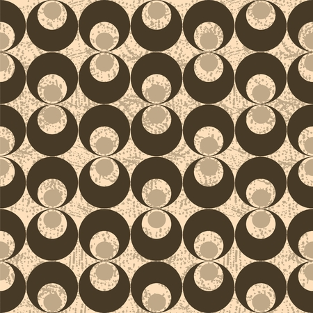 Vector seamless grunge bubble pattern