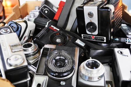 Old photo cameras Editorial