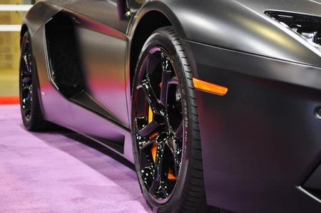 explosion engine:  Lamborghini side close up Editorial