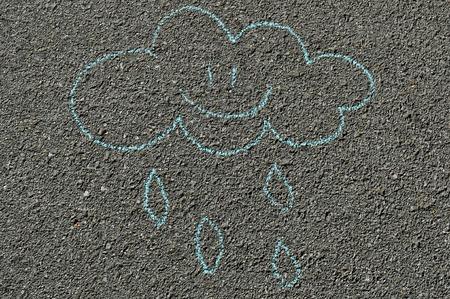 Hand drawn smiling cloud