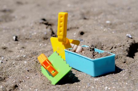 Spade set on a beach