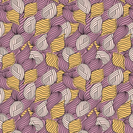 Weaved waves seamless abstract pattern Illustration