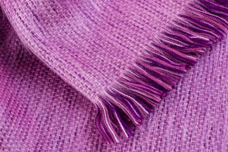 Close up of alpaca wool scarf
