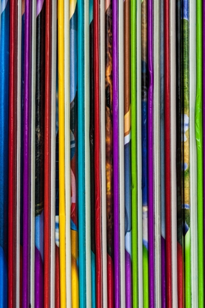 comicbook: Close up of colorful children encyclopedia foredges, vertical, abstract