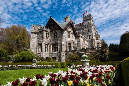 Hatley Park National Historic Site, Hatley castle, Edwardian Gardens, Victoria, British Columbia, Canada,  Royal Roads Standard-Bild