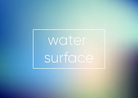 Mesh Blue water surface. Smooth abstract colorful vector