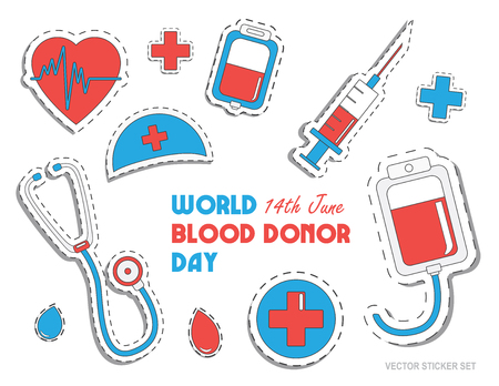 World blood donor day. International holiday.