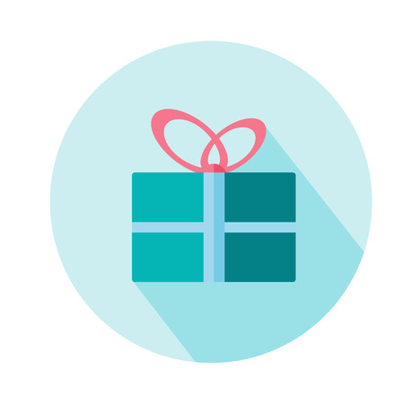 Gift Box woman vector icon. Beauty and accessoires Illustration