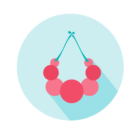 Beads for woman vector icon. Beauty and accessoires
