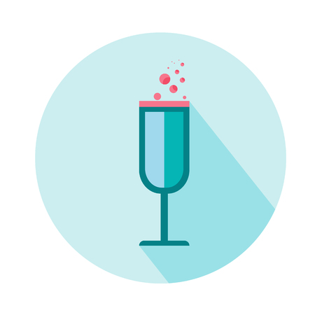 wineglass for woman  icon. Beauty and accessoires