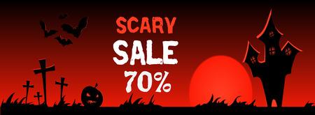 Happy halloween banner. design illustration. Trick or treat