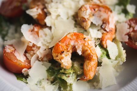 Crevettes avec fromage. gros plan fond alimentaire. macro photographie Banque d'images - 90343301