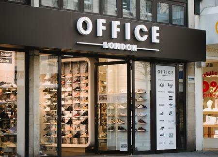 Nurnberg, Germany - April 5, 2018: Office London shop on the street in Old Town.