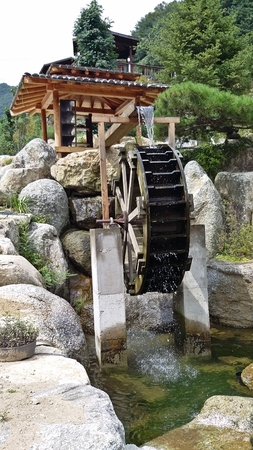 Tranquil watermill
