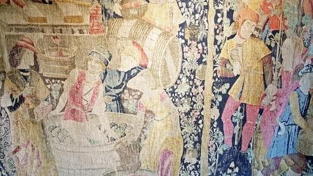 Tissu de personnes médiévaux Banque d'images - 82163576