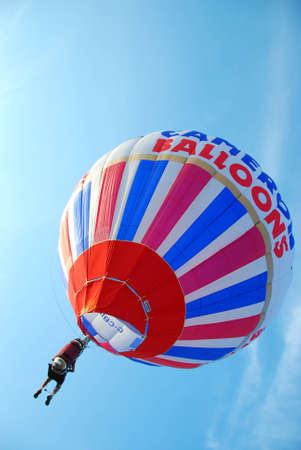 The man driving the balloon