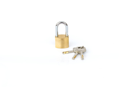 master key for protect or security on white background  photo