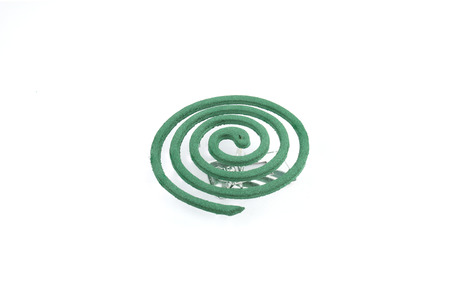 mozzie: Insect repellant coil on white background Stock Photo
