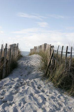 Es ist Zäune auf Küste