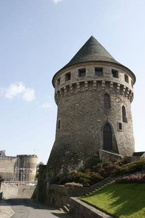 brest: it is an old military tower in Brest  Stock Photo