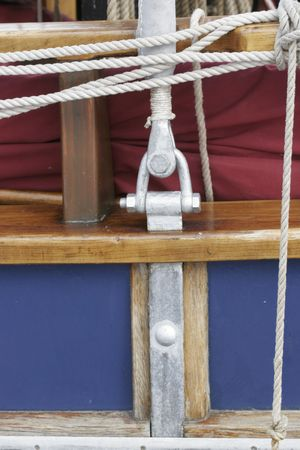 sailling: a part of an old boat