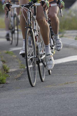 course cycliste: roues pendant une course cycliste