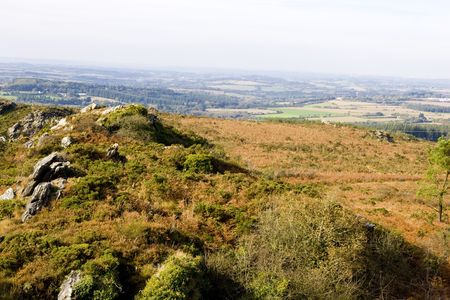 samll: view of a small mountain in brittany Stock Photo