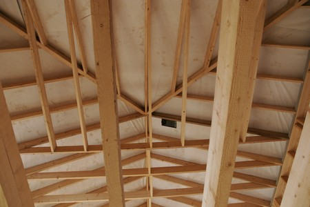 part of a wood house construction Stock Photo - 7461545