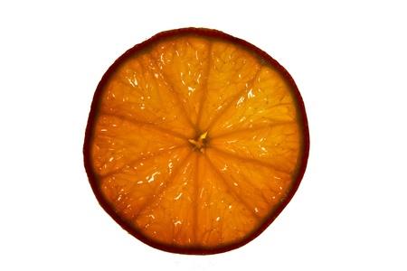 マクロで、transapency とオレンジのスライス