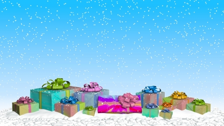 gift surprise family christmas snow Stok Fotoğraf