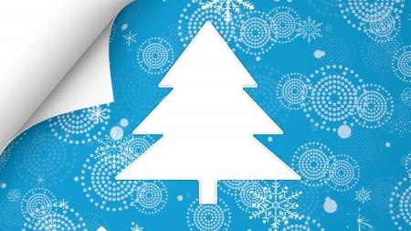 christmas tree snow card gift