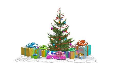 christmas tree snow gift