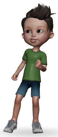 Little Boy 3d Character 3D Render