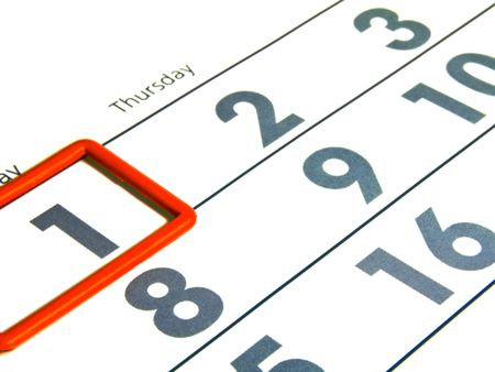 numerals: Numerals of the calendar on white background