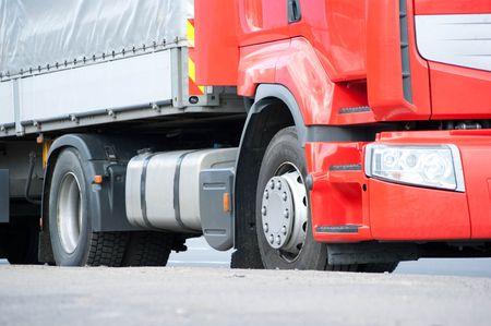camion de volteo: Cami�n  Foto de archivo