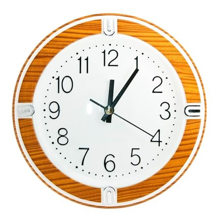 a basic clock on the wall Stock Photo - 6818426
