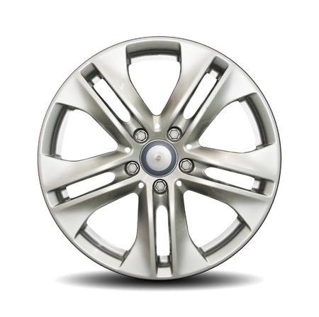 Car alloy rim on white background Stock Photo - 8884505