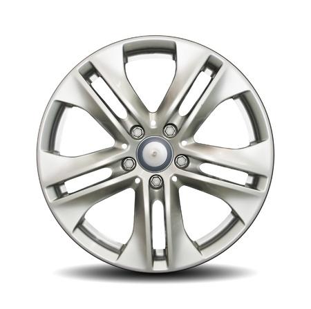Car alloy rim on white background Stock Photo - 8884505