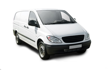 delivery van: White van isolated over white
